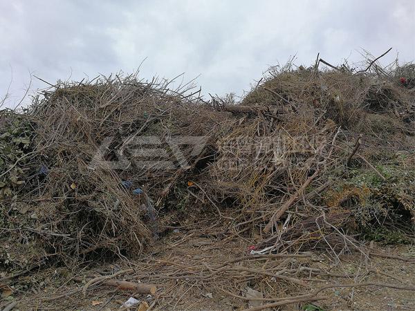 园林垃圾破碎处理设备,园林垃圾破碎工艺流程介绍
