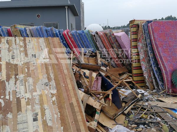 大件垃圾破碎系统,城市大件垃圾破碎处理工艺流程